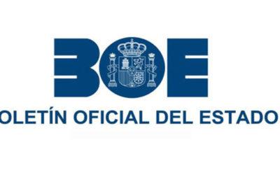 Publicación de la Tablas en el BOE